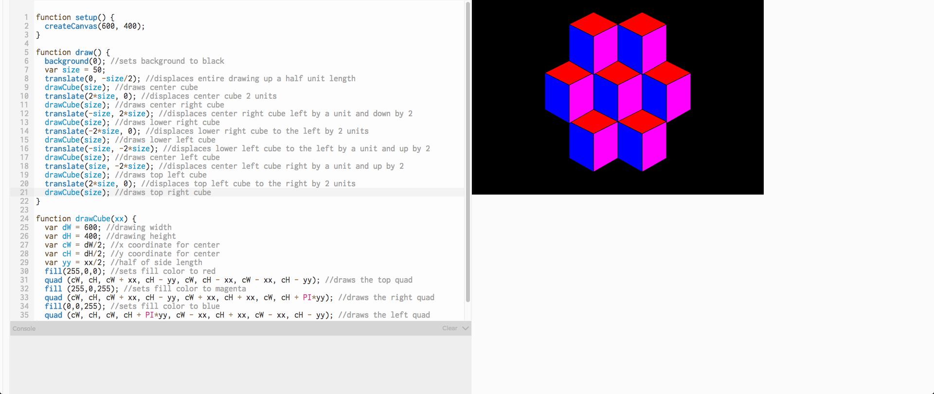 First Cube Tesselation